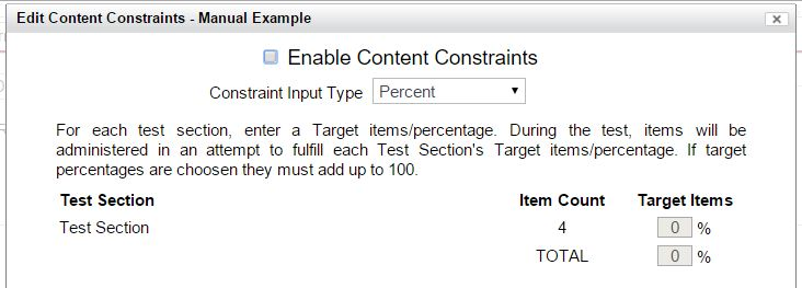 enable content constraints