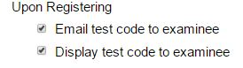 test code delivery