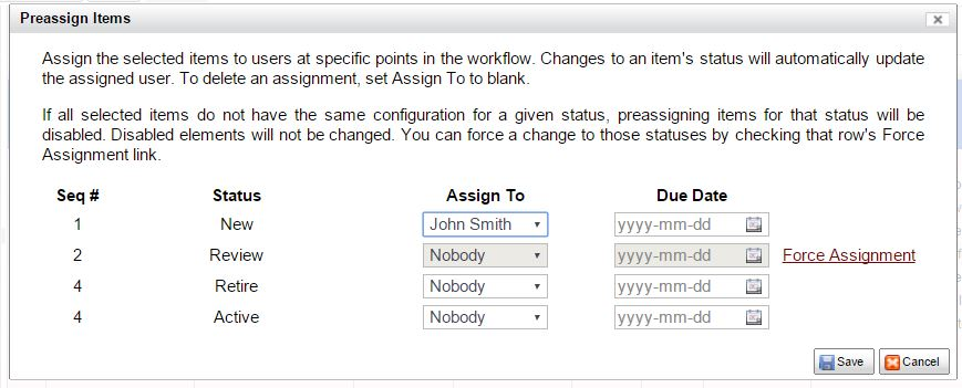 force assign